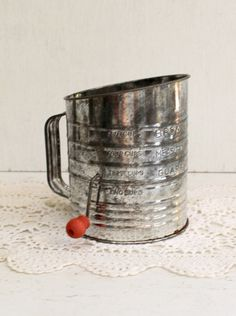 Great vintage flour sifter made by Bromwell
