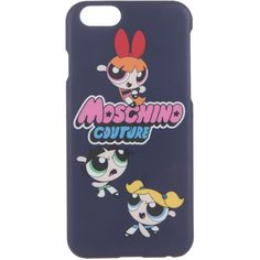 Pre-owned Moschino Powerpuff Girls iPhone 6 Case (84 AUD) ❤ liked on Polyvore featuring accessories, tech accessories, blue and moschino
