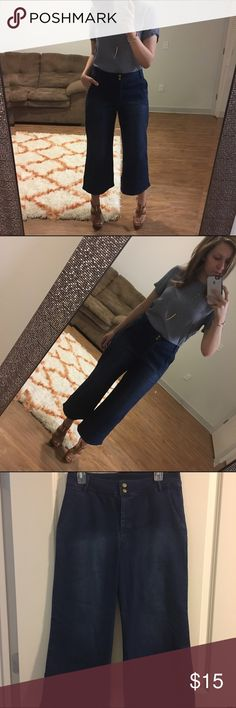 Harlowe&Graham Denim Culottes Worn once! Perfect for winter with a chic bootie or in the summertime with wedges or sandals. Give any casual outfit a little extra. Via Nordstrom. (Paired with a Michael Kors top - also available!) Harlowe & Graham  Pants