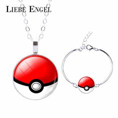 Find More Jewelry Sets Information about LIEBE ENGEL New Pokemon Jewelry Set Fashion Silver Pokeball Glass Cabochon Jewelry Set Long Chain Necklace & Charm Bracelet,High Quality bracelet id,China necklace korean Suppliers, Cheap necklace stud from LIEBE ENGEL Official Store on Aliexpress.com