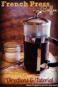French Press Coffee Directions, how to use a French Press - DIY Homemade Coffee Recipe on Frugal Coupon Living.