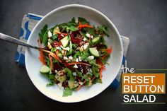 The Reset Button Salad // shutterbean     For W30, omit feta and quinoa. add chicken for more protein