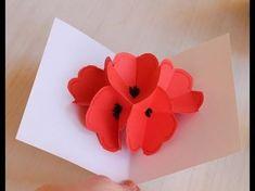 Moederdag prachtige bloemen pop up kaart zelf maken (snelle versie) - YouTube