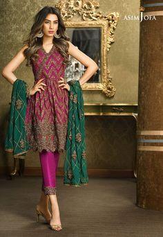Pakistani Fancy Dresses Asim Jofa Mysorie Chiffon Collection 2017-18 (9)
