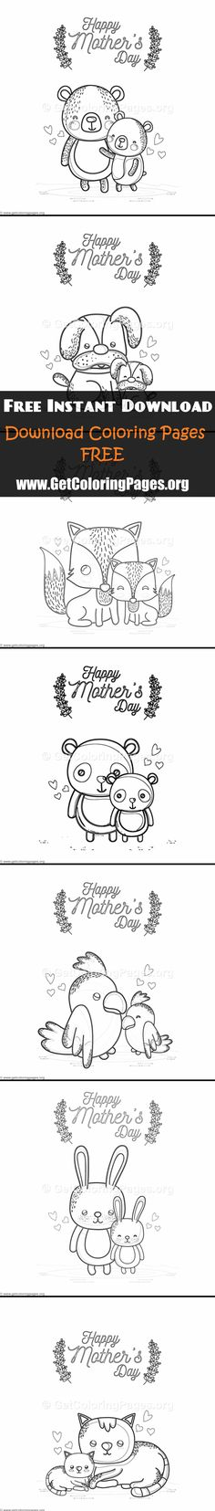 34 Best MOTHERS DAY COLORING PAGES Images On Pinterest