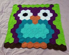 Owl of Hexes | Jenna Wingate Designs - Project notes with links and pattern for the half-hex