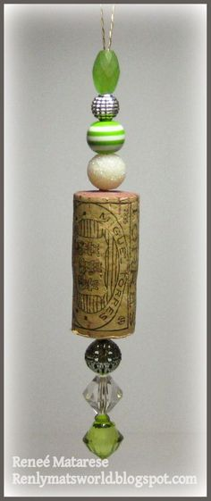 Hello everyone! Today I'm sharing a few more of the wine cork ornaments that I made. They really are simple. I just dril...