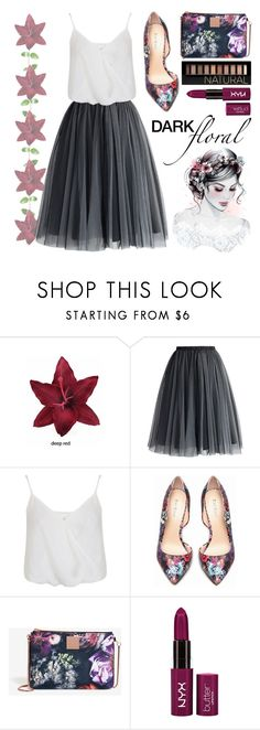 """[ Dark Floral ]"" by demigeorgia ❤ liked on Polyvore featuring Clips, Chicwish, Miss Selfridge, Bebe, Ted Baker and Forever 21"
