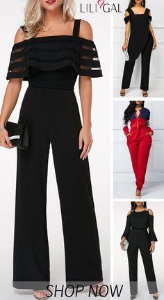 Classy Jumpsuit Outfits for women 2019 - Jumpsuits and Romper Classy Outfits For Women, Trendy Outfits, Classy Women, Mode Outfits, Fashion Outfits, Womens Fashion, Clothes For Women Over 50, Ladies Clothes, Bridal Jumpsuit