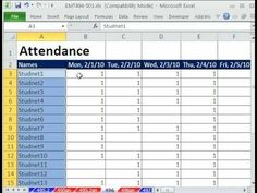 Attendance Sheet For Students Simple Class Attendance Template  Classroom Organization  Pinterest .