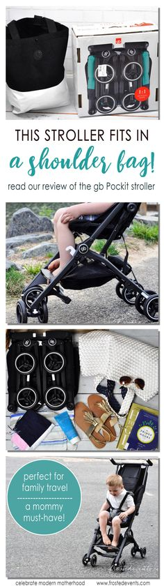Baby Registry List must have, the stroller that fits in a shoulder bag! The gb Pockit stroller   folds up so compact you can pop it in the airplane overhead. Read our review @frostedevents   baby essentials, best baby stroller, family travel stroller, best stroller for travel Get it @babiesrus