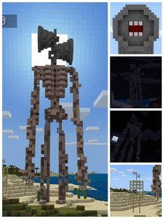 I made siren head in minecraft, since it is being so popular I tought of making an sketch on my creative test world and share it here, I even made a tiny version of it but it didn't turn up so well. Anyway, hope you like it. By u/borra_ Minecraft Statues, Minecraft Structures, Minecraft Plans, Minecraft Tutorial, Minecraft Blueprints, Minecraft Buildings, Minecraft Blocks, Minecraft Banner Designs, Minecraft Banners