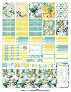 Tropical Summer Planner Stickers/Erin Condren Planner Stickers/Printable Planner…