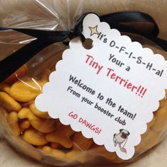 Spirit gift to welcome new little Tiny Terriers. ... It's O-F-I-S-H-al   Your a Tiny Terrier!!