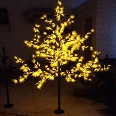 [ $30 OFF ] 1.5Meter 636Leds 5 Color Changing Led Cherry Maple Leaf Tree Light Led Christmas Tree Lights For Outdoor Decoration
