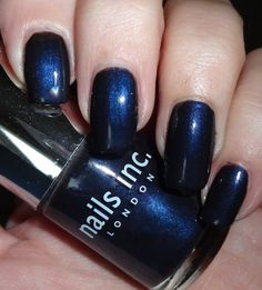 Nails Inc Kabaret - #bluepolish #Nails #Nailswatch #nailsinc #kabaret #navynails #wendysdelights - bellashoot.com, bellashoot iPhone & iPad