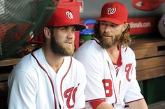 Jayson Werth and Bryce Harper are supposed to be good friends ... we think. (Getty Images/G Fiume)