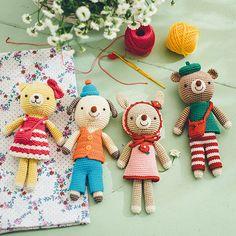 おしゃれなアニマルファッションショー コットン糸の  着せ替え編みぐるみの会(6回限定コレクション)
