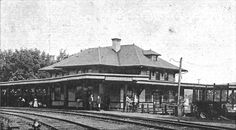 Passenger Depot in Gordonsville, Virginia - view of the station is from a postcard dated September 20, 1910. The point of view is a common one. (From the collection of Larry Z. Daily)