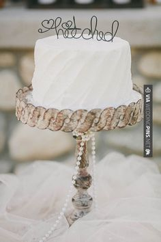 Sweet! - hitched cake topper   CHECK OUT MORE GREAT WHITE WEDDING IDEAS AT WEDDINGPINS.NET   #weddings #whitewedding #white #thecolorwhite #events #forweddings #ilovewhite #bright #pure #love #romance