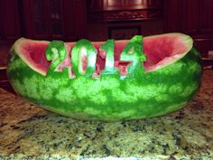 Watermelon carved fruit bowl