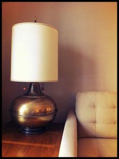 Indianapolis: HUGE 60s/70s Retro Vintage Lamp $40 - http://furnishlyst.com/listings/12467. Love that brass is back!