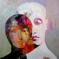 Couple Painting, Family Painting, Abstract Faces, Abstract Portrait, Arabian Art, Ap Studio Art, Alberto Giacometti, Outsider Art, Acrylic Painting Canvas