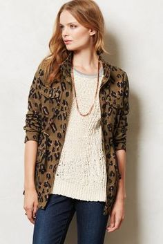 Leopardeau Jacket - anthropologie.com Fresh Leopard print,,,yes please