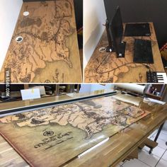 (LOTR) Middle Earth map on my desk, what do you guys think?