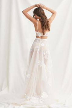 Shop Willowby wedding dresses - a collection of modern and sexy inspired wedding dresses. a&bé bridal shop is an official Willowby's wedding dress retailer. Making A Wedding Dress, Two Piece Wedding Dress, Top Wedding Dresses, Luxury Wedding Dress, Tea Length Wedding Dress, Tea Length Dresses, Colored Wedding Dresses, Boho Wedding Dress, Designer Wedding Dresses