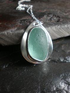 Beautiful sea glass pendant #sea glass beads & #sea charms: http://www.ecrafty.com/c-780-sea-glass-beads.aspx?pagenum=1===newarrivals=60