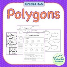Students practice identifying polygons in this mini-unit. Includes detailed lesson plans, interactive notebook pages, practice sheets, and homework for each day.----------------------------------------------------------------------------------------------Topics:- What is a polygon? (Polygon vs.