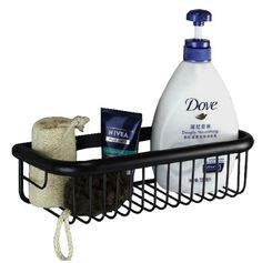 28.85$  Buy now - http://alired.shopchina.info/go.php?t=1524288875 - Black Oil Rubbed Brass Wall Mounted Bathroom Soap / Sponge Shower Storage Basket Cba065 28.85$ #buyininternet
