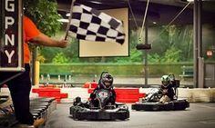 Adults and kids race around go-kart tracks at speeds of up to 40 mph Go Kart Tracks, Karting, Grand Prix, Children, Kids, Packaging, New York, Go Kart