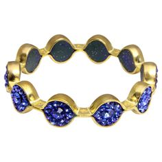 Marquis Crystal Bracelet in Electric Blue - SAACHI