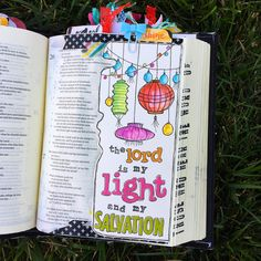Bible Journaling by @kristenwolbach | Psalm 27