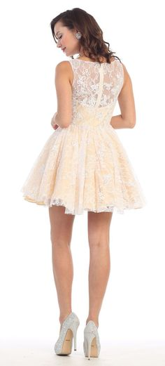 Formal Bohemian Homecoming Lace Mesh Sassy Prom Plus Size Vintage Short Dress