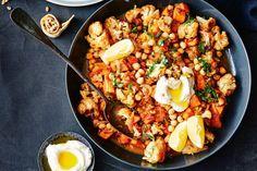 Lebanese roast cauliflower and sweet potato casserole | Taste.com.au