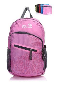 New Outlander Packable Handy Lightweight Travel Backpack Daypack-Pink
