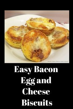 Here are some portable to go anytime easy bacon egg and cheese breakfast biscuits made anyway your family likes them in minutes! Egg Recipes, Brunch Recipes, Gourmet Recipes, Breakfast Recipes, Brunch Food, Breakfast Ideas, Healthy Egg Breakfast, Best Breakfast, Cheese Biscuits