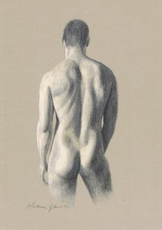Hand drawing of naked man 4
