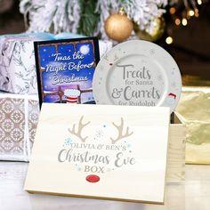 Wooden Christmas Eve Box, Personalised Christmas Eve Box, Christmas Gifts For Kids, Christmas Books, 1st Christmas, Christmas Treats, Christmas Christmas, Holiday, Xmas Eve Boxes