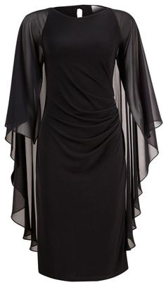 Black Angel Sleeve Dress. This would be great for a photoshoot :)