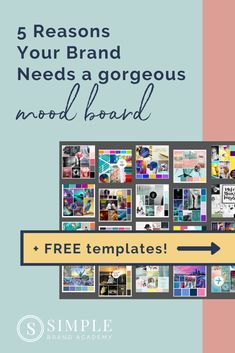 5 Reasons You Need a Mood Board for your Brand - plus FREE mood board templates & instructions - so you can DIY yours! About: mood board inspiration & ideas, how to create a mood board, mood board templates, mood board inspiration color schemes. Boutique Logo, Logo Branding, Branding Ideas, Business Branding, Simple Website Design, Brand Style Guide, Fashion Branding, Color Schemes, Vintage