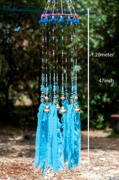 Carillones de viento de color turquesa por RonitPeterArt en Etsy