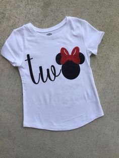 two minnie mouse birthday shirt two top I'm by shopsimplydarling