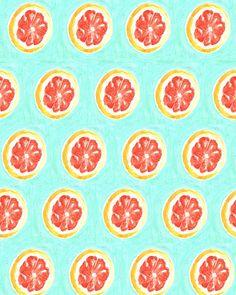 Grapefruit print