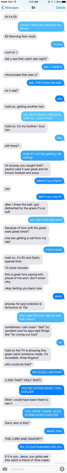 Eli Manning and Odell Beckham's text conversation after The Catch- This is hilarious they are too goofy!