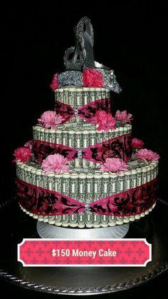 Real united States Money cake for Valentines Bridal by moneycake