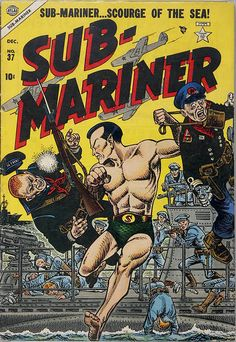 Browse the Marvel Comics issue Sub-Mariner Comics Learn where to read it, and check out the comic's cover art, variants, writers, & more! Old Comic Books, Vintage Comic Books, Marvel Comic Books, Vintage Comics, Comic Book Covers, War Comics, Marvel Comics, Sub Mariner, Fantasy Comics